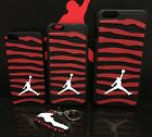 Jordan iPhone 6 7 8 8 Plus XS MAX Rubber Silicone Case FREE KEYCHAIN