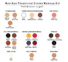 Ben Nye Theatrical Professional Makeup Kit Choose TK-1 Fair, Tk-2 Med, Tk-5 NIB