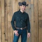 Ely Cattleman Black Tone On Tone Solid Shirt