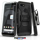 CASE FOR [TMOBILE REVVL PLUS] FUSION ARMOR SHOCKPROOF HYBRID COVER W/ KICKSTAND