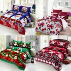 4pcs 3D Cotton Cartoon Christmas Bedding Set Duvet Bed 2 Pillowcases Gift N0H2 image