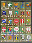 PANINI 2018 FIFA WORLD CUP FOIL STICKER ~ EMBLEMS LOGOS LEGENDS ~ PICK FROM LIST