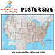 United States Classic Detailed USA Wall Map Poster Mural 24 x 36 Poster Paper
