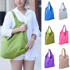 Women Reusable Grocery Shopping Large Bag Foldable Waterproof Ripstop Nylon Tote