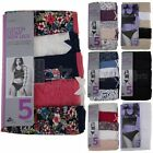 Ladies Top Uk Store Briefs Knickers 5 Pack High Leg Cotton Lycra M S L XL Multi