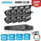 ANNKE 8CH 1080P Lite DVR 8 720P Security Camera System IR Wh