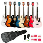 8 Color Basswood Cutaway Acoustic Guitar w/Bag String Pick S