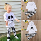 Cute Toddler Kids Baby Girls Hoodies Tops Striped Long Pants Outfits Clothes USA