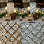 """9"""" tall Crystal Beaded Metal Candle Holders Wedding Centerpieces Wedding Party"""