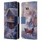 OFFICIAL CHRISTMAS MIX WINTER WONDERLAND LEATHER BOOK CASE FOR HTC PHONES 1