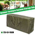 Outdoor Garden Furniture Cushion Storage Bags Pouch Waterproof Case Cover 173cm