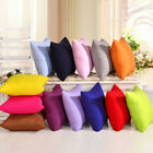 Square Cushion Sofa Car Cotton Solid Colors Throw Pillow Case Cover Home Decor. image