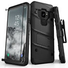 Zizo BOLT Case Cover with Clip Holster + Tempered Glass Samsung Galaxy S9 / S9+