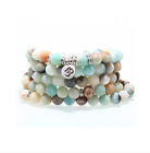 crystal natural stone bracelet yoga necklace matte amazonite jewelry for women