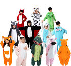Kids Unisex Animal Pajamas Halloween Costume Cosplay Cartoon Children Sleepwear