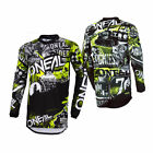 O'Neal Mens & Youth Black/Hi-Viz Element Attack Dirt Bike Jersey MX ATV 2019