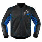 Icon Mens Blue/Black Textile Wireform Motorcycle Jacket
