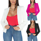 Business Cardigan Coat Career Slim Suit Women Long Sleeve Blazer Jacket Tops New