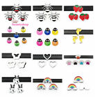 5pc 8mm slide Dog paw spider ladybug slide charms fit for 8mm belt/pet collar