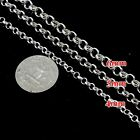 "925 Sterling Silver Chains Rolo Soldered Necklace Belcher 3mm 4mm 5mm 6mm 7""-36"""