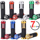 "7/8"" Hand Grips W/Anodized Aluminum Bar End For Kawasaki Suzuki Motorcycle ATV $8.9 USD on eBay"