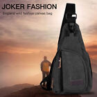 Men Military Shoulder Sling Chest Travel Hiking Bag Small Canva Backpack Outdoor