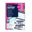 Filofax 2019 Stripes/Floral Illustrated Diary Schedule Plan Refill Pack Insert