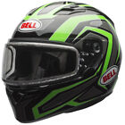 Bell Adult Green/Black/Grey Dual Lens Qualifier Reflective Snowmobile Helmet