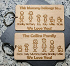 PERSONALISED MOTHER'S DAY GIFT GIFTS FOR HER MUMMY MUM KEYRING FAMILY PORTRAIT