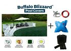 Buffalo Blizzard Above Ground Winter Pool Cover w/ Pillow & Clips - All Sizes