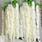 Artificial Silk Fake Flower Garland Vine Wisteria Wedding Home Decor 10pcs 33cm