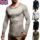 UK 1PC Mens Crew-Neck Long Sleeve T-Shirts Slim Fit Swag   Skinny Tee