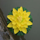 18cm Artificial Lotus Floating Water Lily Flowers Plants Home Decors Pond Gut