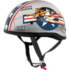 Skid Lid Lethal Threat Half Helmet Bomber Pin Up <br/> Free Domestic Shipping &amp; No Restock Fees on Returns*