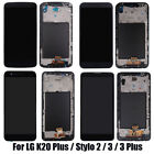 AAA For LG G4 G5 Stylo 2 3 K20 Plus LCD Digitizer Touch Screen Replacement Frame