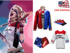 US STOCK DC Comics Suicide Squad Harley Quinn Costume Outfit