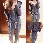 3PCS Women Thicken Sport Hoodies Tracksuits Set Loungewear Fashion Tops Pans New