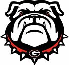 Georgia Bulldogs Bulldog Logo Vinyl Decal / Sticker 5 Sizes!!!