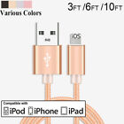 iPhone X 8 7 6s 6 Plus 1M 2M 3M para cargar datos USB Cuerda Cable cargador