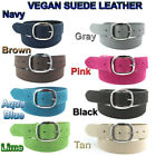 "Women's  Suede Leather Belt 1-1/2"" wide Antique Nickle Buckle sizes 32"" - 46"""