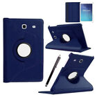 """360 Rotation Leather Stand Case Cover Samsung Galaxy Tab A 7"""" 9.7"""" 10.1"""" E 2/3/4"""