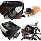 Dog Cat Pet Bike Bicycle Basket Travel Carrier Cycling Front Bag Black/Brown 2