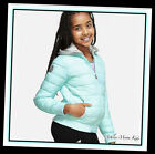 Внешний вид - NWT JUSTICE Girls Azure Blue Packable Puffer Coat Jacket~Great for Backpacks!