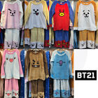BTS BT21 Official Authentic Goods Unisex Fleece Pajamas Set by LINE FRIENDS KPOP