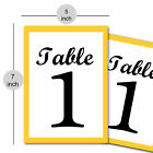 1-50 Table Number Paper Table Numbers Table Cards Wedding Evening Anniversary