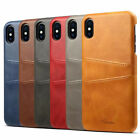 Genuine Leather Case Cover Card Slot Holder For Iphone X Xs Max Xr 6 6s 7 8 Plus