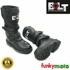 BOLT KIDS MX MOTORCYCLE BOOTS, BIKERS MX OFFROAD CHILD SHOES ATV QUAD WATERPROOF