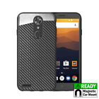 For ZTE Max XL N9560 Phone Case Magnetic Backplate Blade Carbon Fiber Cover