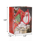 Set of 6 Paper Carrier Present Gift Bags Rope Handle Christmas Wedding Birthday