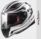LS2 FF353 Rapid Carborace Gloss White Black Motorcycle Scooter Motorbike Helmet